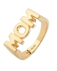 Maria Black - Metallic Gold-plated Mom Ring - Lyst