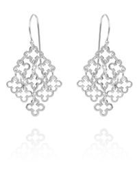 Dinny Hall | Metallic Small Silver Talitha Drop Earrings | Lyst