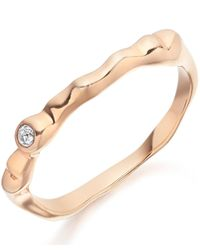 Monica Vinader | Multicolor Rose Gold Vermeil White Topaz Siren Band | Lyst