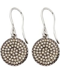 Astley Clarke - Metallic Small White Gold Diamond Cognac Diamond Icon Earrings - Lyst