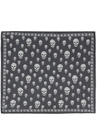 Alexander McQueen - Black Classic Skull Chiffon Scarf for Men - Lyst