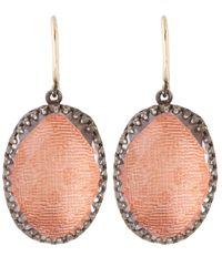 Larkspur & Hawk - Red Silver Topaz Lily Drop Earrings - Lyst