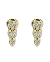 Astley Clarke   Metallic Gold Diamond Mini Interstellar Stud Earrings   Lyst