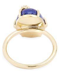 Andrea Fohrman - Metallic Gold Mini Star Lapis Ring - Lyst