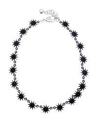 Lulu Frost - Black Electra Riviera Star Necklace - Lyst