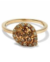 Fabrizio Riva - Metallic Brown Diamond Pear Shape Ring - Lyst