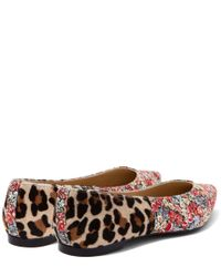 French Sole - Multicolor Penelope Chive Printed Pony Hair Flats - Lyst