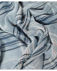 Nick Bronson - Blue Grey Large Checked Scarf - Lyst