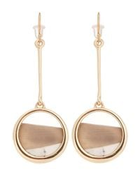 Alexis Bittar | Metallic Beige Asymmetric Drop Earrings | Lyst