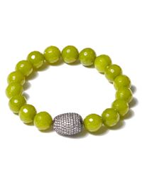 Tai | Light Green Beaded Bracelet | Lyst