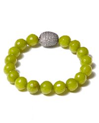 Tai - Light Green Beaded Bracelet - Lyst