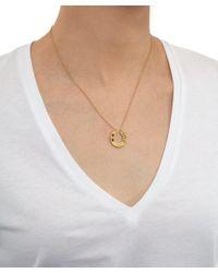 Annina Vogel - Metallic Gold Old Cut Diamond Ruby Horseshoe Necklace - Lyst