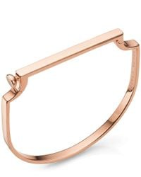 Monica Vinader - Metallic Gold-plated Signature Thin Diamond Bangle - Lyst