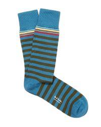 Paul Smith - Blue Men's Stripe And Spot 3 Pack Socks for Men - Lyst