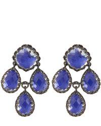 Larkspur & Hawk - Blue Cobalt Antoinette Girandole Earrings - Lyst