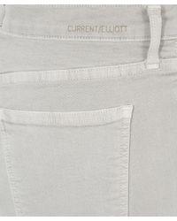 Current/Elliott - Gray Light Grey Stiletto Released Hem Jeans - Lyst