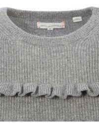 Chinti & Parker - Gray Mid Grey Ruffle Stripe Jumper - Lyst