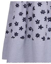 Chinti & Parker - Blue Floral Stripe Sun Dress - Lyst
