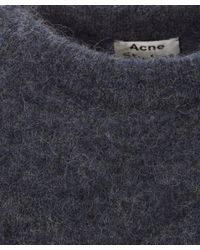 Acne Studios - Blue Navy Dramatic Mohair Classic Jumper - Lyst