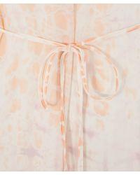 Raquel Allegra - Multicolor Peach Georgette Ruffle Sleeve Dress - Lyst