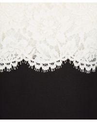 Valentino - White Lace Top Midi Dress - Lyst