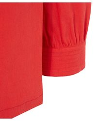 A.P.C. - Red Long Sleeved Button Shoulder Detail Casablanca Top - Lyst