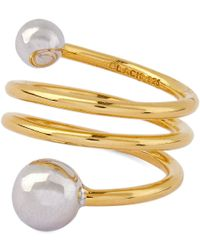 Maria Black - Black Body Double Spiral Ring - Lyst