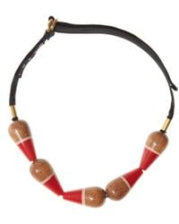 Marni - Multicolor Large Wooden Pendant Detail Necklace - Lyst