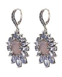 Stephen Dweck - Blue Crystal Quartz And Lavender Moon Quartz Earrings - Lyst