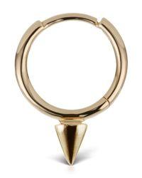 Maria Tash - Metallic Gold Single Spike Non-rotating Ring - Lyst