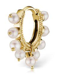 Maria Tash - Metallic Small Gold Full Pearl Coronet Eternity - Lyst