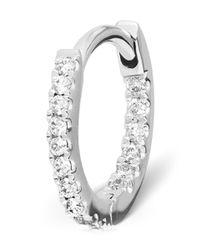 Maria Tash - Medium White Gold Diamond Eternity Ring - Lyst