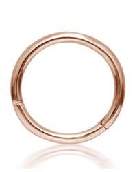 Maria Tash | Metallic Medium Rose Gold Plain Ring | Lyst