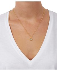 Monica Vinader | Metallic Small Gold-plated Petra Moonstone Pendant | Lyst