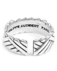 Philippe Audibert - Multicolor Diagonal Patterned Ben Ring - Lyst