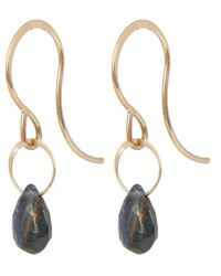 Melissa Joy Manning - Metallic Small Gold And Green Sapphire Drop Earrings - Lyst