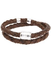 Miansai - Brown Leather Casing Bracelet for Men - Lyst