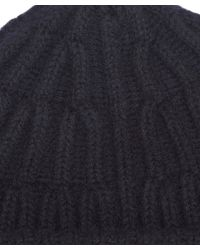 NN07 - Blue Ribbed Wool Beanie for Men - Lyst