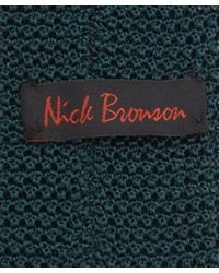Nick Bronson - Green Knitted Silk Tie for Men - Lyst