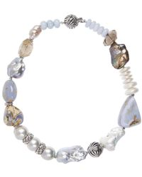 Stephen Dweck - Metallic Baroque Pearl And Quartz Ball Clasp Necklace - Lyst