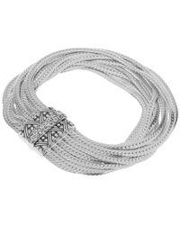 Stephen Dweck - Metallic Silver And Rainbow Moonstone Multi Curb Chain Bracelet - Lyst