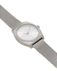 Nixon - Metallic Time Teller Milanese Silver-tone Watch - Lyst