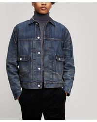 e388c68709 Lyst - RRL Denim Trucker Type 2 Jacket in Blue for Men