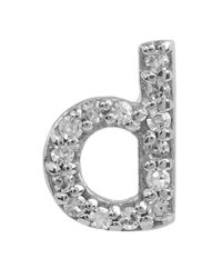 KC Designs - Multicolor Diamond D Stud Earring - Lyst