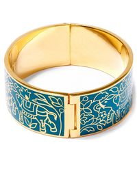 Liberty - Green Imran Solid Thick Cuff - Lyst