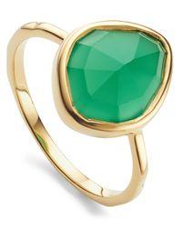 Monica Vinader - Metallic Gold Vermeil Siren Green Onyx Small Nugget Stacking Ring - Lyst