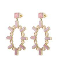 Larkspur & Hawk - Pink Gold Cora Large Chalcedony Chandelier Earrings - Lyst