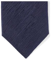 Lanvin - Blue Textured Lines Tie for Men - Lyst
