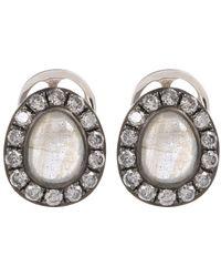 Annoushka - Metallic 18ct White Gold Dusty Diamonds Labradorite Stud Earrings - Lyst
