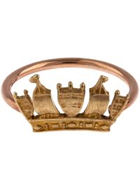 Annina Vogel - Metallic Rose Gold Crown Ring - Lyst
